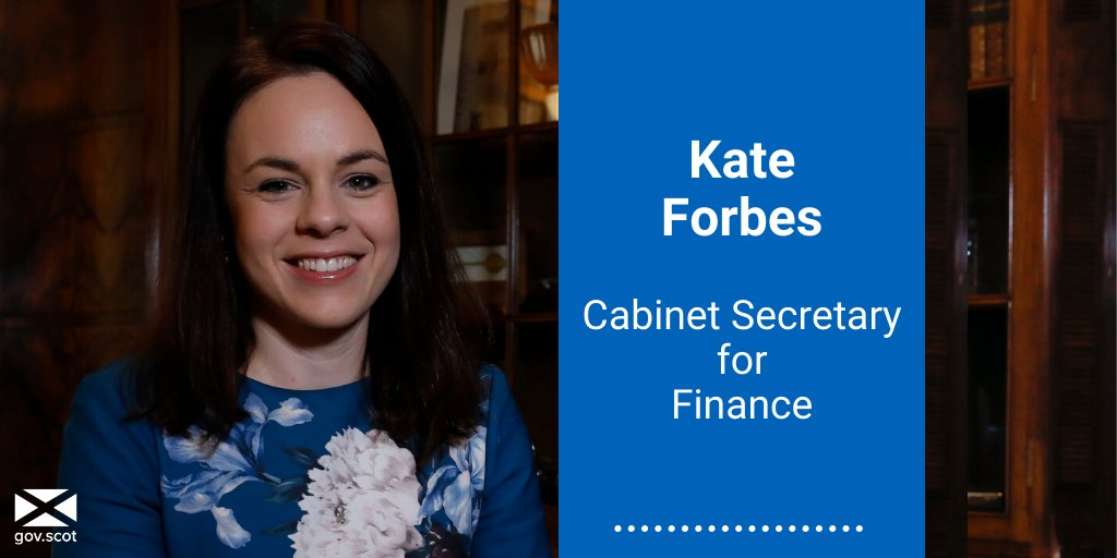 @NicolaSturgeon @ScotGovFM .@KateForbesMSP joins cabinet as Cabinet Secretary for Finance.