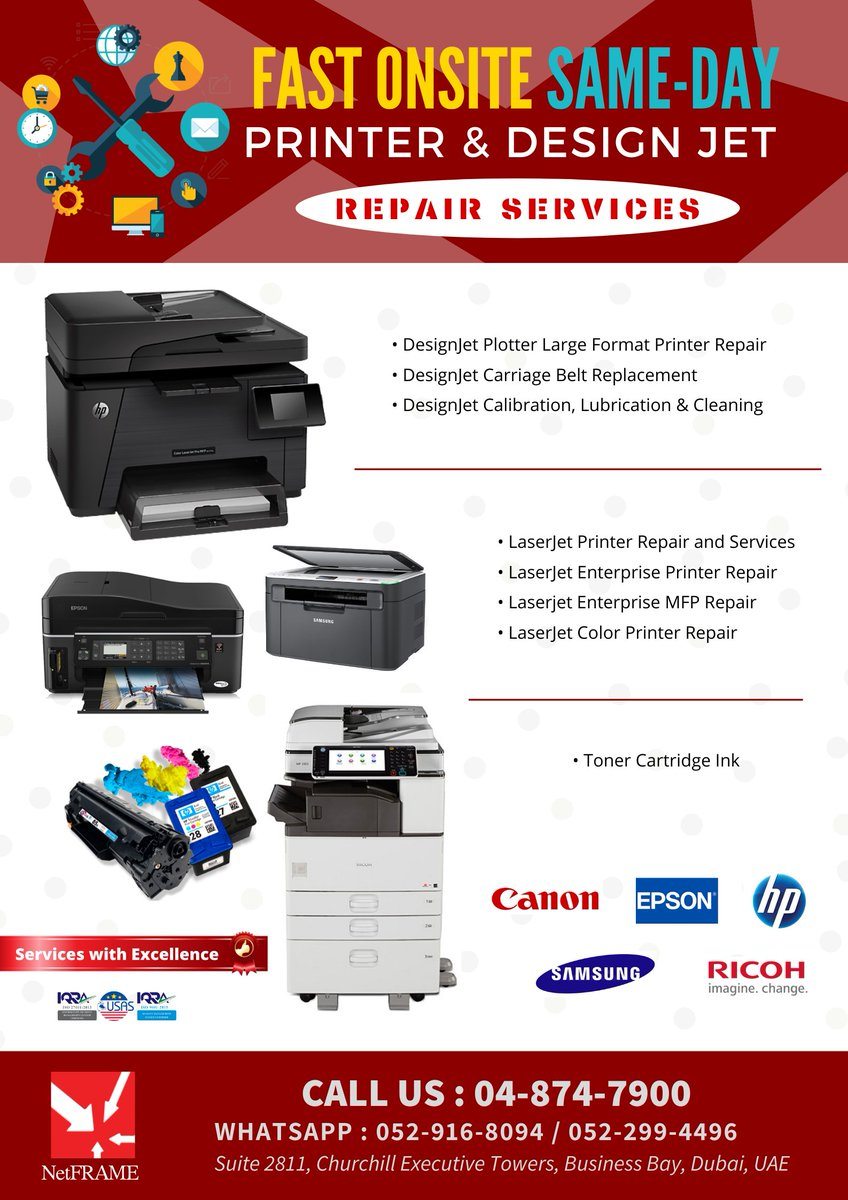 Printer Repair Services #printers #designjet #hp #canon #epson #ricoh #samsung #itdubai #informationtechnologypic.twitter.com/x8AEJmo0Gz