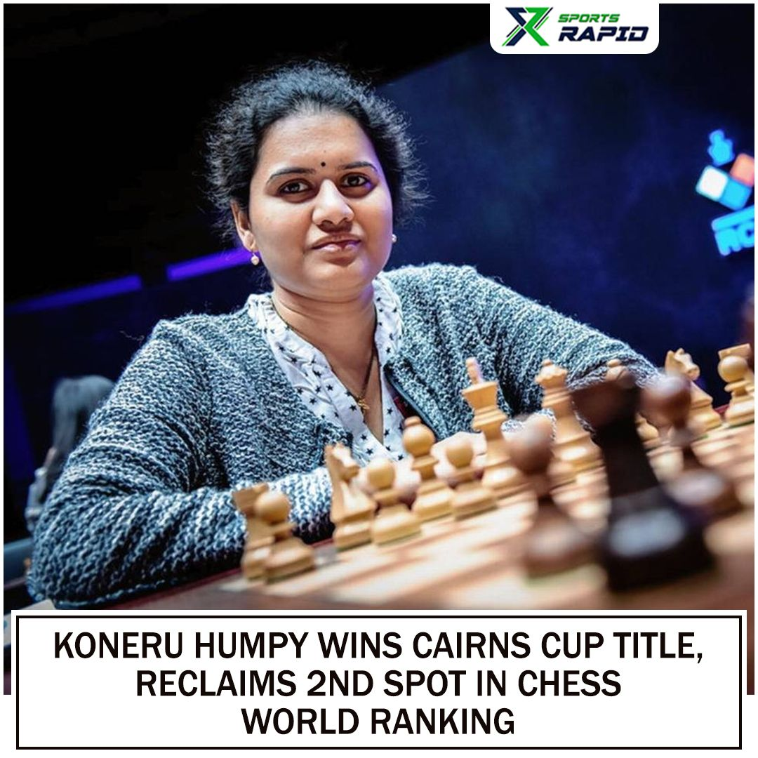World rapid chess champion Koneru Humpy re-asserted her supremacy in style by winning the title with 6 points from nine rounds and bag the $45,000 winner's purse.#chess #chessplayer #chessgame #chessboard #chesslover #schach #chesslife #ajedrez #chessmoves #chessclub #echecs
