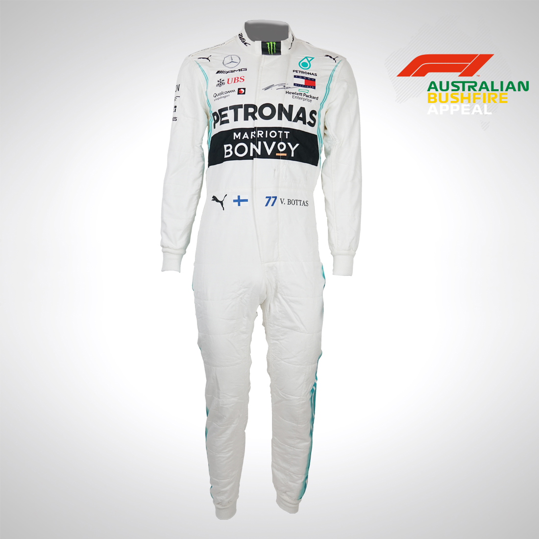 We're supporting the @F1 Australian Bush Fire Appeal!   👉 Signed @LewisHamilton race suit 👉 Signed @ValtteriBottas race suit   Bid and help those affected in the worst hit areas of Australia 👉 http://mb4.me/WW5VxiFL