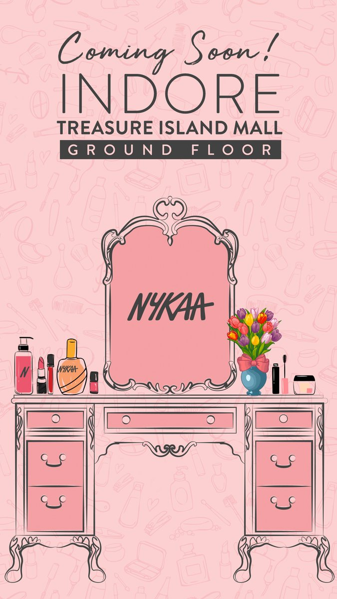 Skin first. Makeup second. Happyness always! Because, the @MyNykaa store is opening soon at #TreasureIslandMall. Stay tuned.pic.twitter.com/yyzmrKQQnB