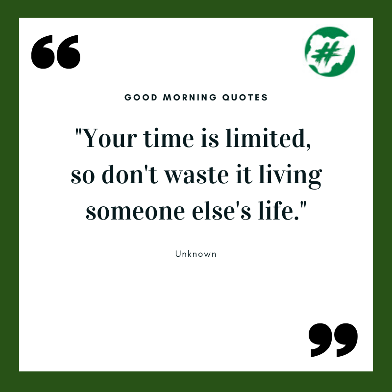 "#QOTD: ""Your time is limited,  so don't waste it living someone else's life."" - Unknown  #MondayMotivation #mondaymorning #motivationalquotes  #motivationalquotesoftheday  #allnaijatrendspic.twitter.com/R6KUgUO8qf"