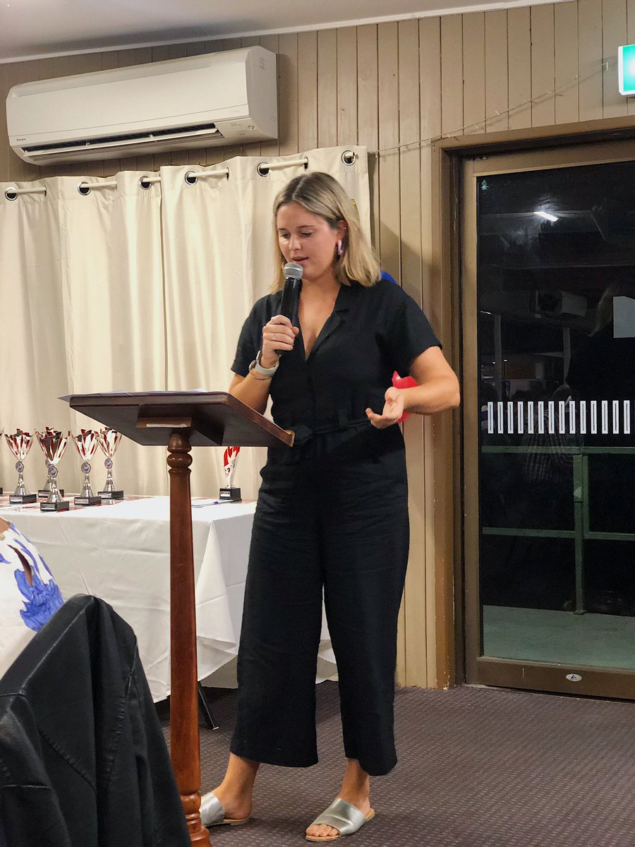 Tonight, I had the opportunity to introduce 22 of Warwick's top sportsmen and women for 2019 at the Sport Star Award dinner. To say I was nervous going into the night would be an understatement, speaking in front of 220 people. Here's to the next 29 years of sports in #Warwick pic.twitter.com/1nVgNFqTkq