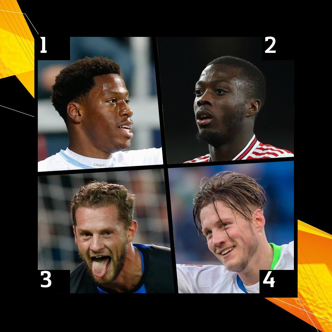 Weekend stars 🤩 Who did it best?  1⃣ Jonathan David ⚽️⚽️ 2⃣ Nicolas Pépé ⚽️🅰️🅰️ 3⃣ Mats Rits ⚽️⚽️ 4⃣ Wout Weghorst ⚽️⚽️⚽️  #UEL