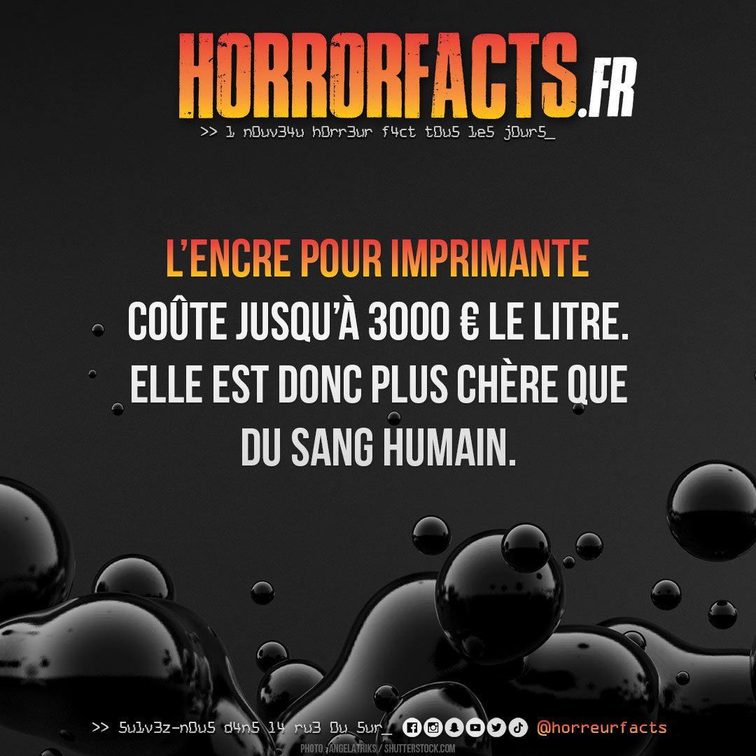 Une cartouche, ça fait toujours mal ! #imprimante #encre #hp #brother #epson #canon #impression #prix #sang #sanghumain #lesaviezvous #horreur #horreurs #horreurfact #horreurfacts #horrorfact #horrorfacts #filmdhorreur #histoiredhorreurpic.twitter.com/XCLGwBLkTF