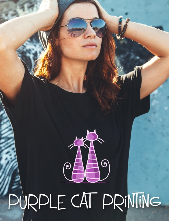 Printing studio based in Four Crosses, Powys, printing bespoke personalised products from T-shirts to mugs for all your special occasions. Call us for a quote and a chat! http://purplecatprinting.co.uk @purplecatp #bizitalkpic.twitter.com/GsP4TSY7ii
