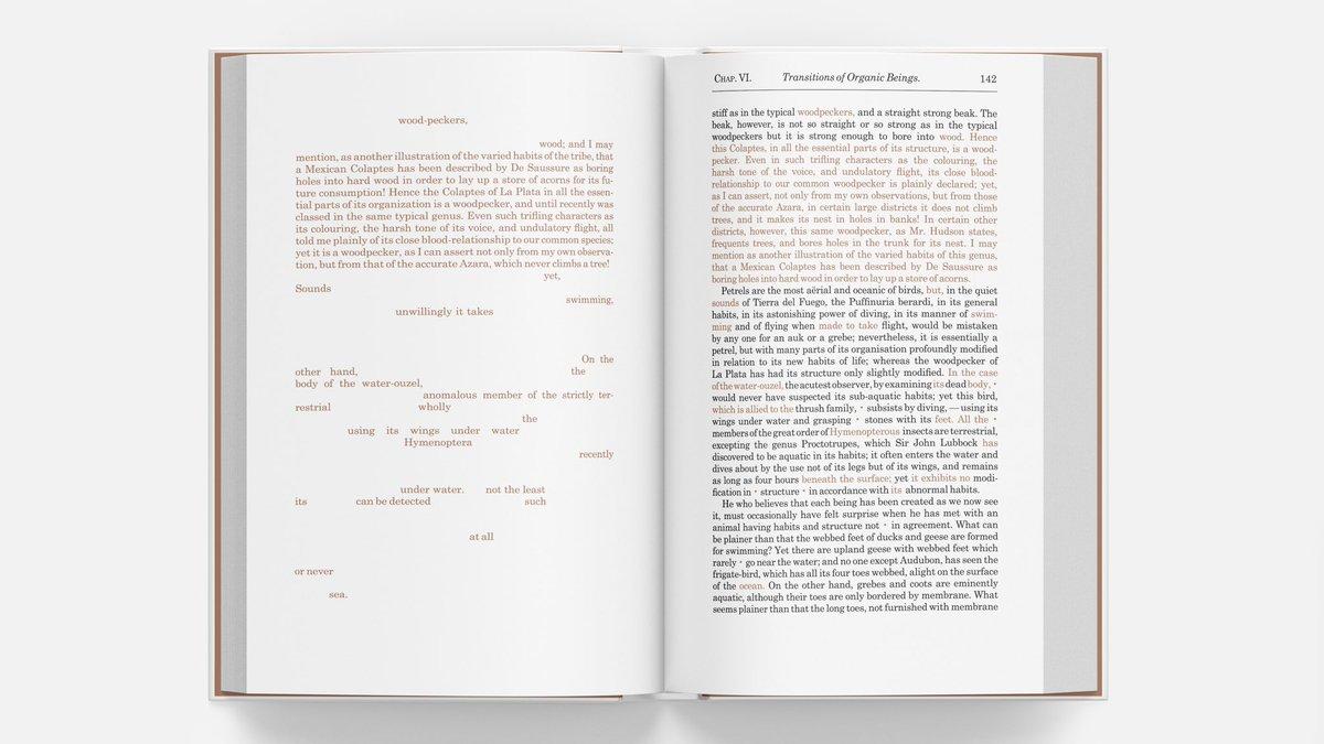 Day 172 — Page 142 #NaturalSelection #Darwin #HMSBeagle #TheTheoryofEvolution #thoughtoftheday #evolution #kickstarter #NaturalScience #OriginofSpecies #Science  #artbook #typography #variorum #graphicdesign #artistsbook #indiegogo #publishing #selfpublishing #selfpublishedpic.twitter.com/mnnh6ktcsa