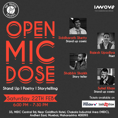 Open Mic Dose,  #OpenMic #standupcomedy #standupforindia #PoetrySlam #poetry #poetrycommunity #storytellingpic.twitter.com/XSo6fUSw3m