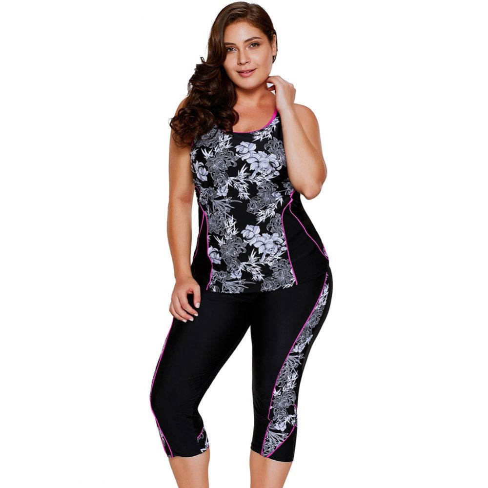 #plusmodel #loveyourself Women's Fitness Two Piece Suit with Floral Printpic.twitter.com/pkXLenGJrE