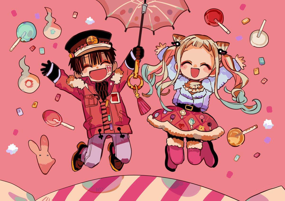 2月18日はGファンタジー3月号の発売日! 花子くんと寧々ちゃんのピンクの表紙が目印です💕今月は双子の特製ドアプレートの付録付き! ぜひドアにかけてお使いください🚪✨