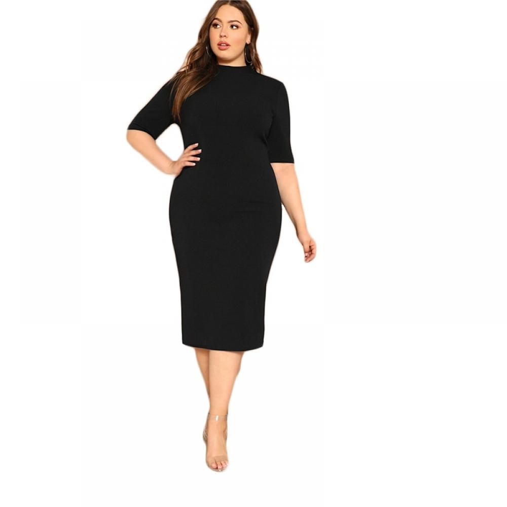 #lookbook #clothing Classy Plus Size Mock-Neck Solid Pencil Work Dress https://finchez.com/classy-plus-size-mock-neck-solid-pencil-work-dress/…pic.twitter.com/6eGWtJOKZK