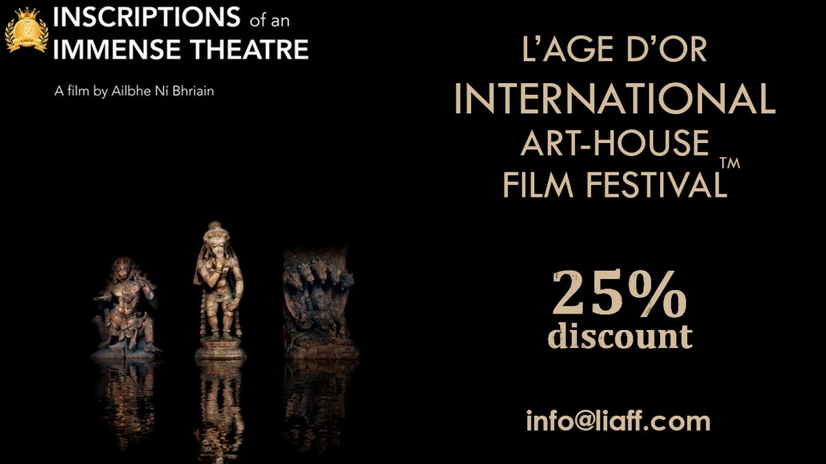 LAST 3 DAYS ONLY!! 25% SUPER DISCOUNT  Submit your work in the multiple categories https://filmfreeway.com/liaff  WAIVER CODE: 13LIAFF25DIS  #InscriptionsofanImmenseTheatre #ExperimentalFilm #filmfestival #AilbheNiBhriain #film #filmfreewaypic.twitter.com/REl4alMMt5