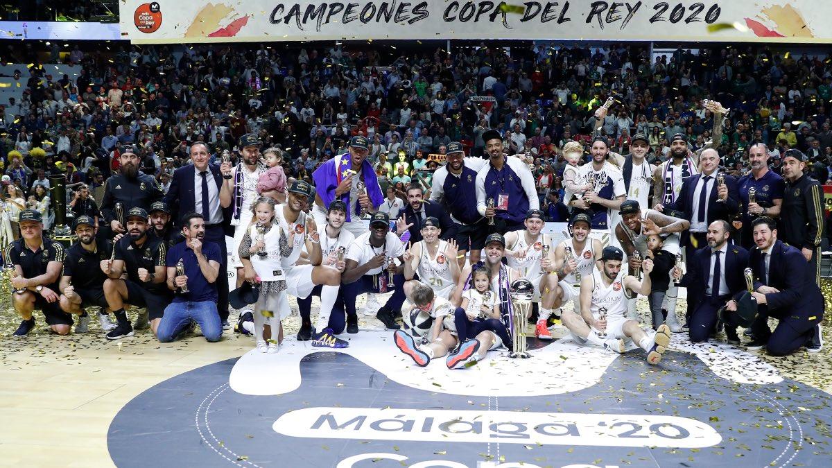 ¡Felicidades, CAMPEONES!  #CAMPEONES28 #CopaACB #HalaMadrid #RealMadrid