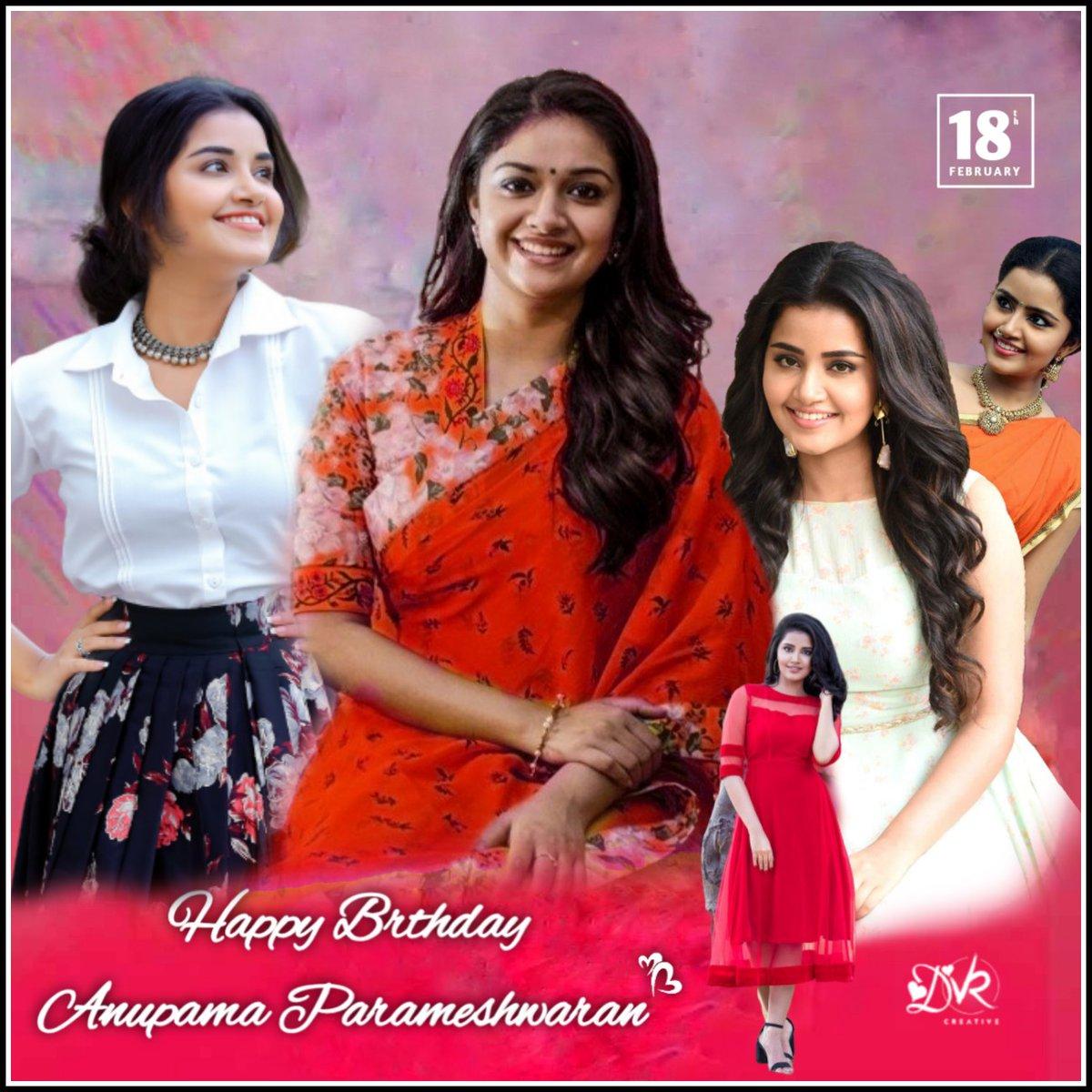 #AnupamaParameswaran birthday CDP from #keerthisuresh fans pic.twitter.com/oIGksQgMKe