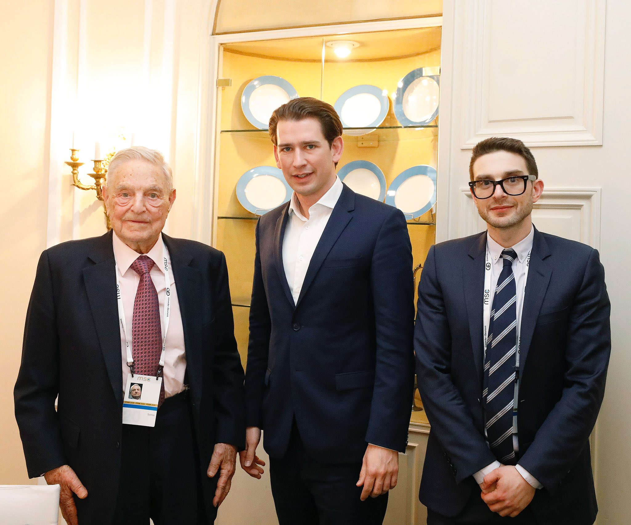 """Alexander Soros, PhD on Twitter: """"Great for my father and I too visit  Austrian Chancellor @SebastianKurz in #Munich to discuss the future of the  @ceu in #Austria and the importance of a"""