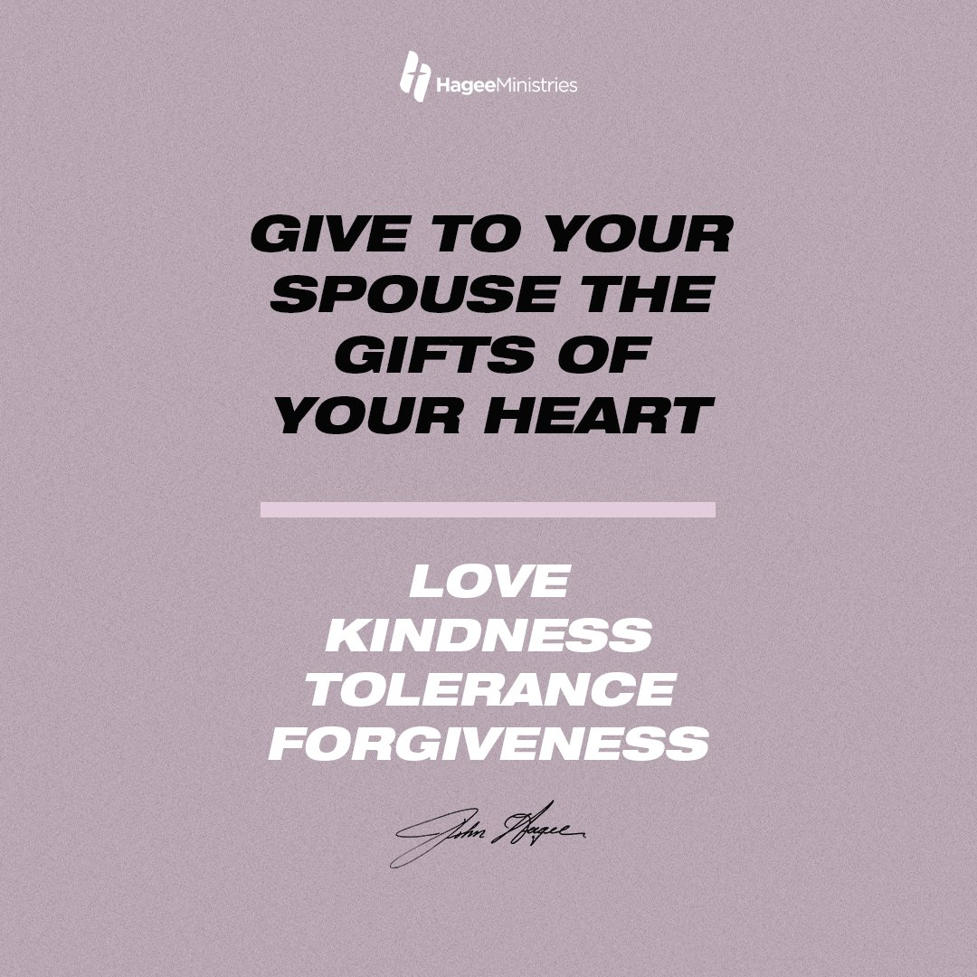 Give to your spouse the gifts of your heart: love, kindness, tolerance, and forgiveness.  #qotd #quoteoftheday #totd #thoughtoftheday pic.twitter.com/eF7k9ZTTSG