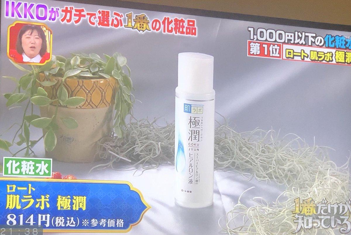 IKKOさんオススメ プチプラ化粧水は 極潤✨これは、美容研究していた人もすごくオススメしてたなぁ🤔IKKOさんオススメの使い方も載せておこう。