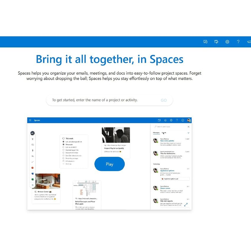 """Spaces"" is a Microsoft's new Outlook feature to manage projects which teased today.  The web app will pulls together your documents, emails and events using the search terms you provide. #Microsoft #Spaces #Outlook #TechSaala #Technews #Techupdates #appspic.twitter.com/Ir1reYuFoz"