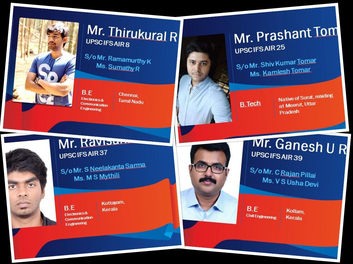 Shankar #IAS #Academy Chennai #Annanagar, students hold top four Best Rank in UPSC IFS 2018-19. https://www.shankariasacademy.com/pic.twitter.com/meC6e2SmvX