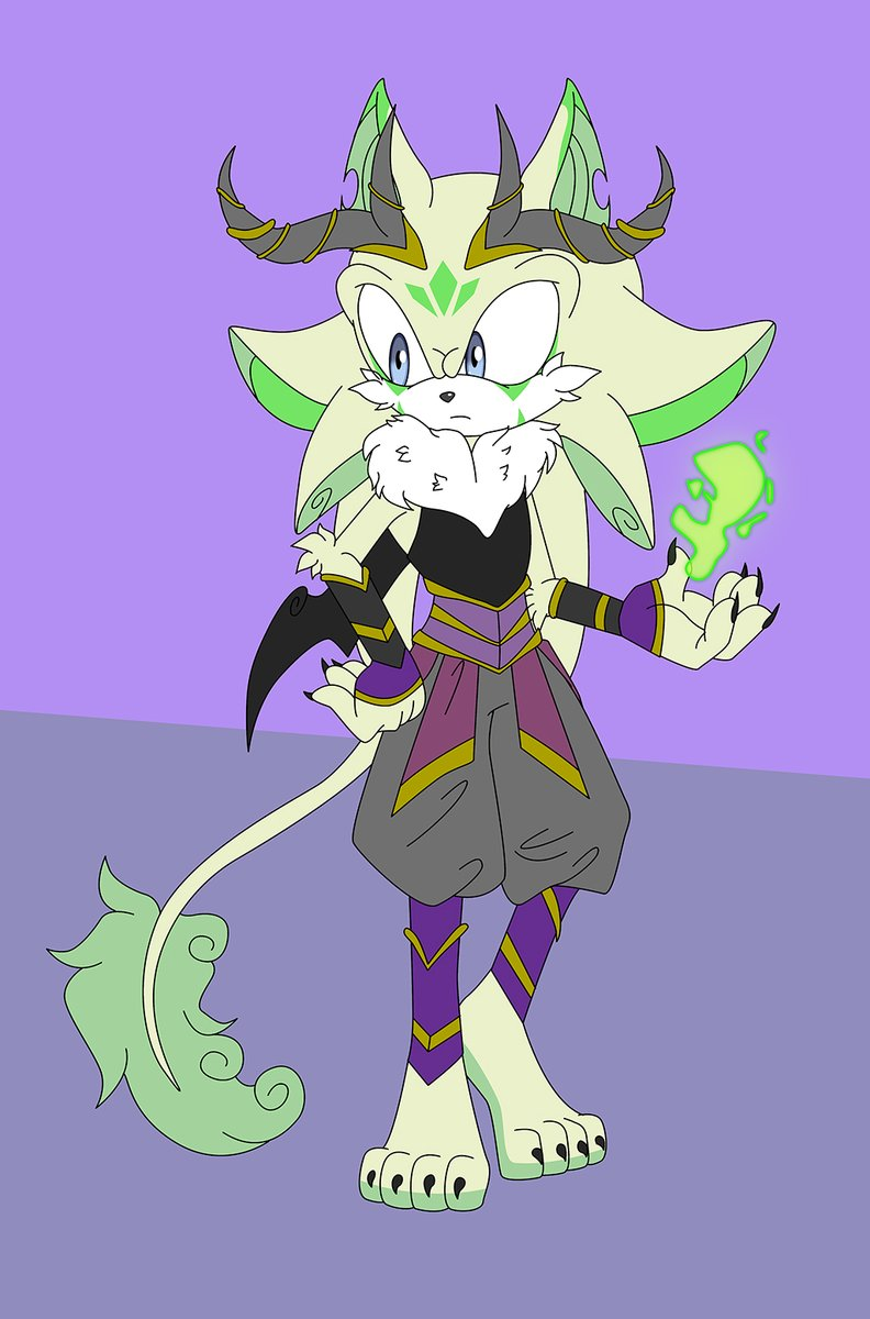 decided to make another of my draconian race/species because I wanted to see what one would look like more Sonic style. his name is Mithra and he can control and create weapons from energy- kind of like how Shadow can control Chaos energy. epic fail on said energy in his hand. pic.twitter.com/5TOev0SKMi