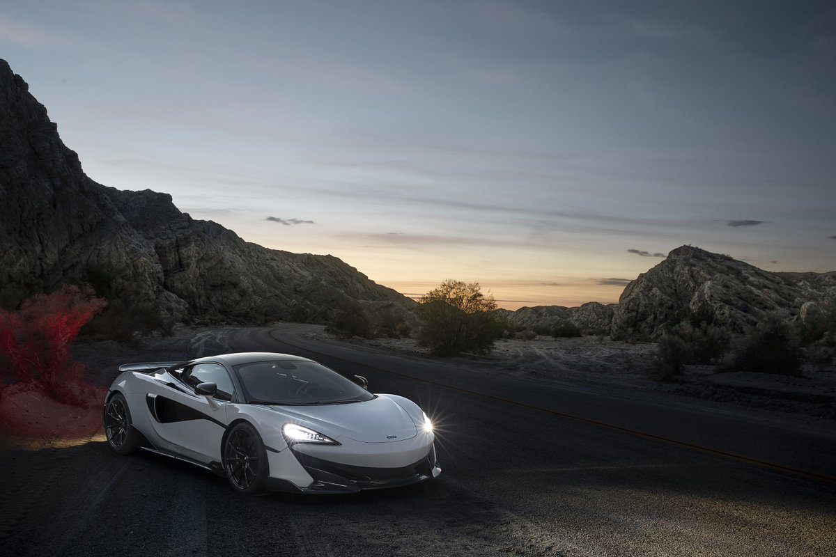 Cast your mind back to September 2018 when we were kicking up dust at the edge of the world. Where would you most like to drive the #McLaren600LT? One of these sensational desert roads or down the road on the track at Thermal Club?pic.twitter.com/t9Nuv9m6oZ