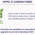 Image for the Tweet beginning: La transition écologique sera la