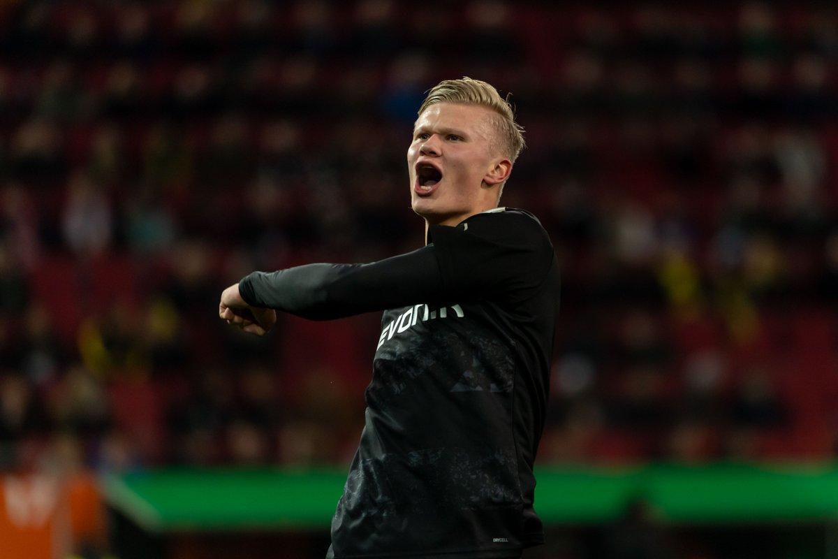 🎯 Goals scored in Dortmund's last 6 games =  ⚽️9⃣ - 🇳🇴 Erling Braut Haaland ⚽️4⃣ - 🏴 Jadon Sancho  ⚽️3⃣ - 🇵🇹 Raphaël Guerreiro  ⚽️2⃣ - 🇩🇪 Marco Reus   #EURO2020