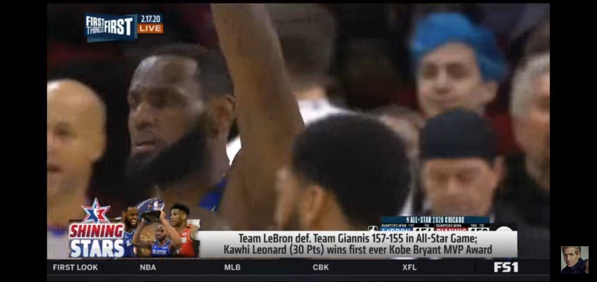@Ninja @NBA I knew I saw you for a second. Hahaha!