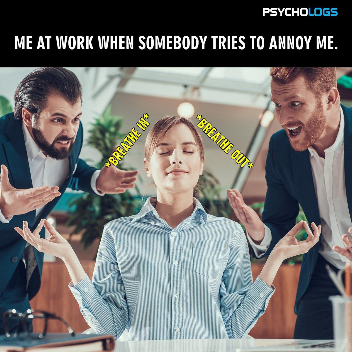 Power of meditation! #psychology #psychologsmagazine #power #meditation #funnymemes #funny #fun #psychologymemes #annoy #annoying #breathin #breathout #work #worklife #people #lifeatwork #workoholic #annoyme #workpressure #officelife #peopleatwork #annoyingpeoplepic.twitter.com/cK7FPSr3Zg