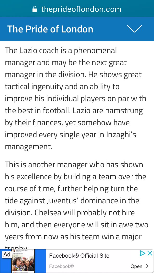 """Srsly...... Receipts from @BRouen13 in summer 2018, in that Conte """"dead man walking"""" stage. #CFC #Lazio"""