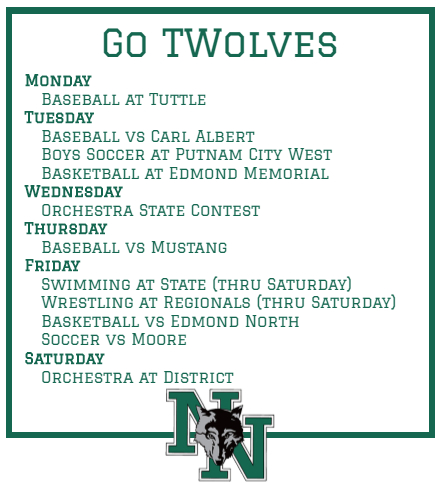 Support your teammates and classmates.  Here's what's happening this week. #GoTwolves pic.twitter.com/SITxUvlG5O