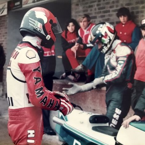 """@Stavros6 and Barry Sheene filming """"Space Riders"""" UK """"The Riders"""" Japan #cultmovie #SDR   @b_sheene7pic.twitter.com/7oxIkVsjBf"""