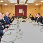 Image for the Tweet beginning: A working lunch discussion with