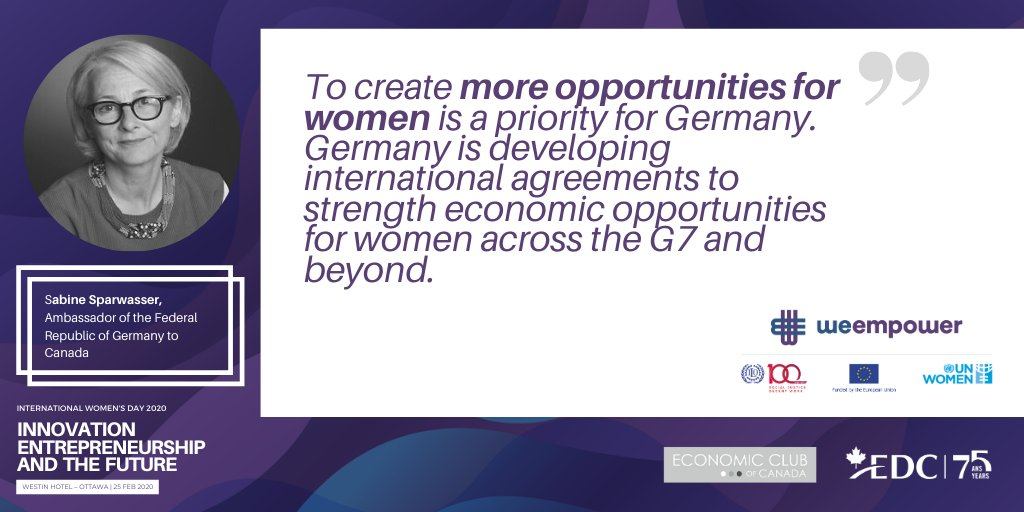 As we approach #WomensDay, let's: 🗣️ speak up for women's rights ⚖️ enact policies that support all genders 💰 make sure that women are not left behind in the economy  This & more on 25 Feb: http://unwo.men/ZtVn50ydnnC cc: @G7 @GermanyInCanada #MondayMotivation#WeEmpower
