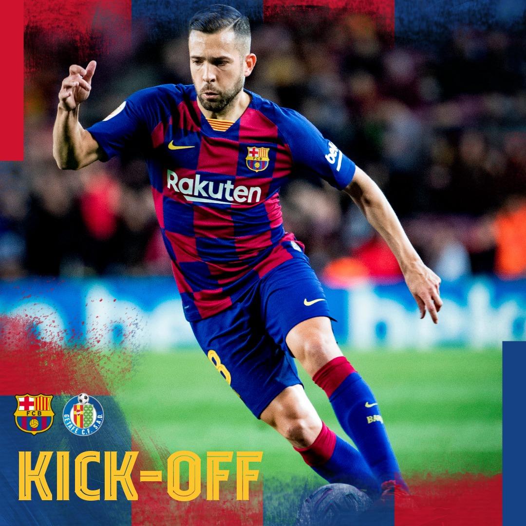 ⏰ انطلاق المباراة 💥  📌ما توقعاتك للنتیجة؟🙌  ⚽#BarçaGetafe