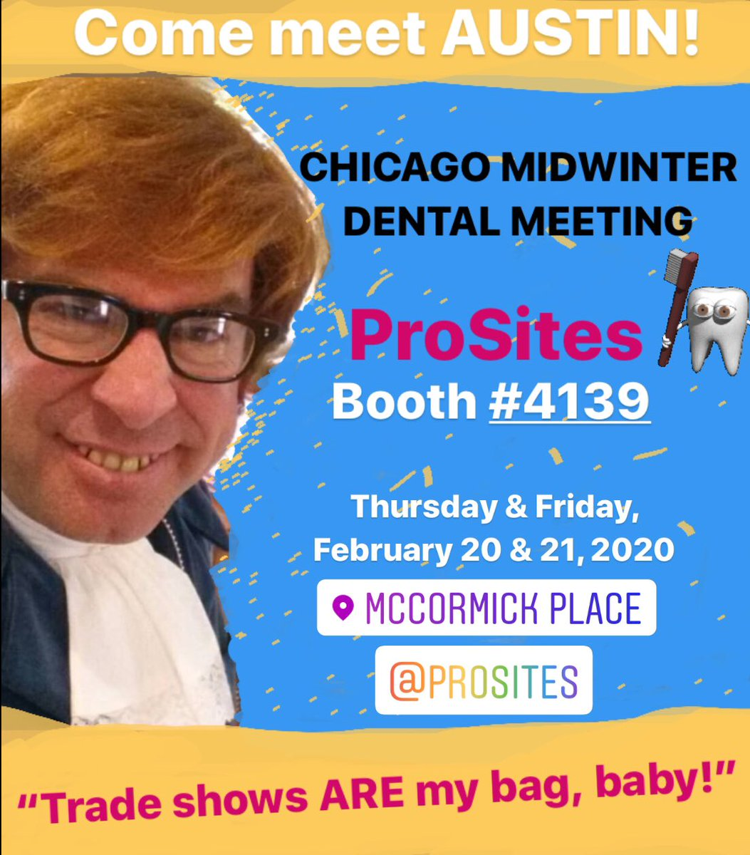 Yeah, baby, yeah! I'm headed to the Windy City later this week! Why not invite me to me the HIT of YOUR next trade show appearance? #austinpowers #austinpowersimpersonator #austinpowerslookalike #RichardHalpern #celebrityimpersonator #celebritylookalike #tradeshow #eventpic.twitter.com/QCNhuFnDat