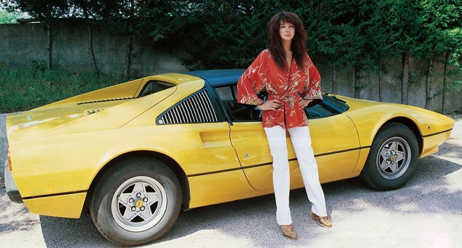 Kate Bush w/ Ferrari 308 GTS, 1978 https://t.co/gqvr3mucHp