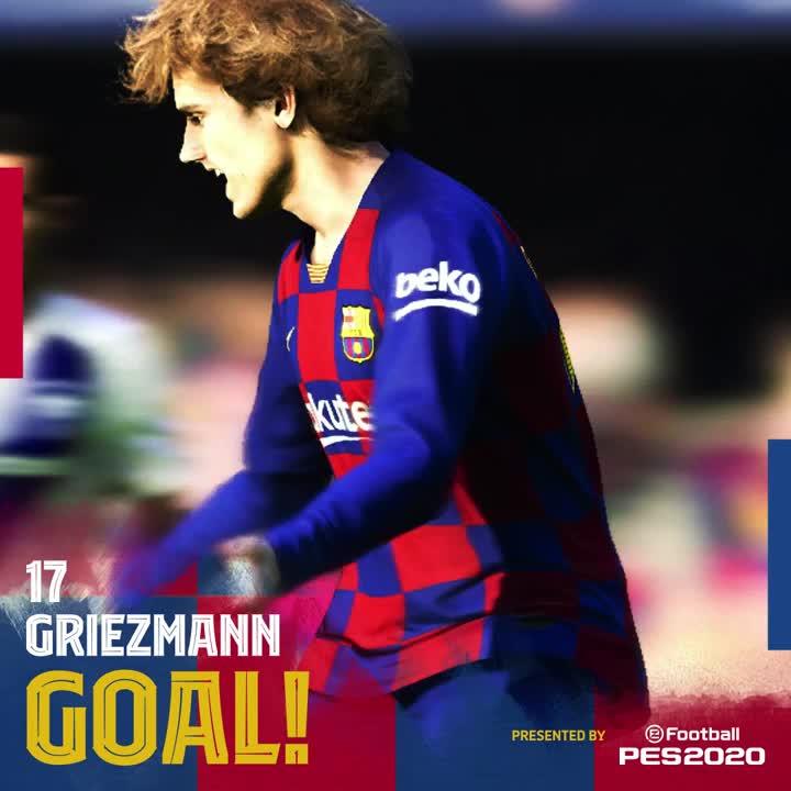 🙌 34' GOOOOOOOOOOL  Baaaarça. GOOOOOOOOOOOL  @AntoGriezmann, após Assits sempurna dari #Messi!  🎉  ⚽️ #BarçaGetafe (1-0)  👊 #ForçaBarça 🔵🔴