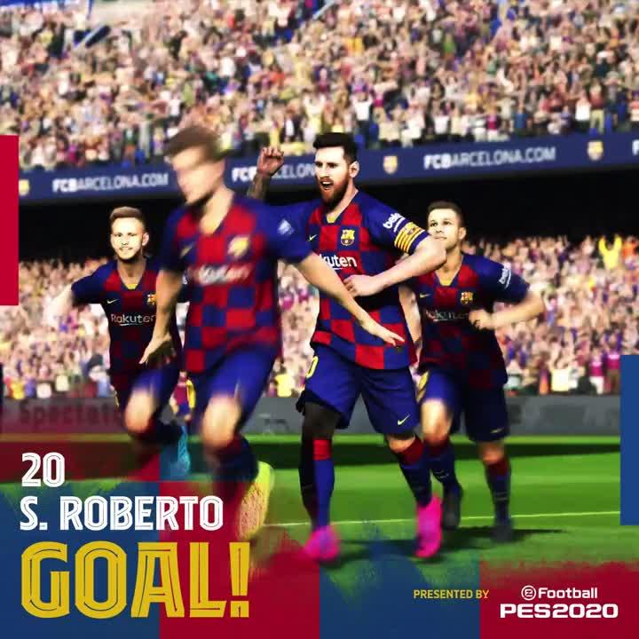🙌 39' GOOOOOOOOOOOL  Baaaarça. GOOOOOOOOOOOL  @SergiRoberto10, assits @JuniorFirpo03  🎉  ⚽️ #BarçaGetafe (2-0)  👊 #ForçaBarça 🔵🔴