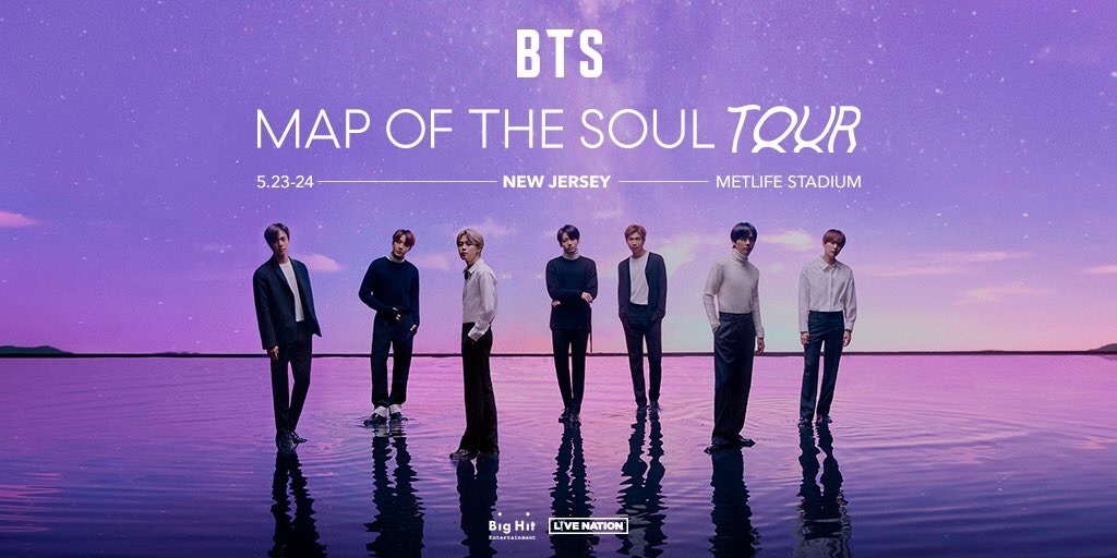 #BTSARMY 📢 Which song would you love to hear on the BTS MAP OF THE SOUL TOUR? 💜🎵 Share your choice using #BTS_TOUR_SONG_REQUEST_NJ