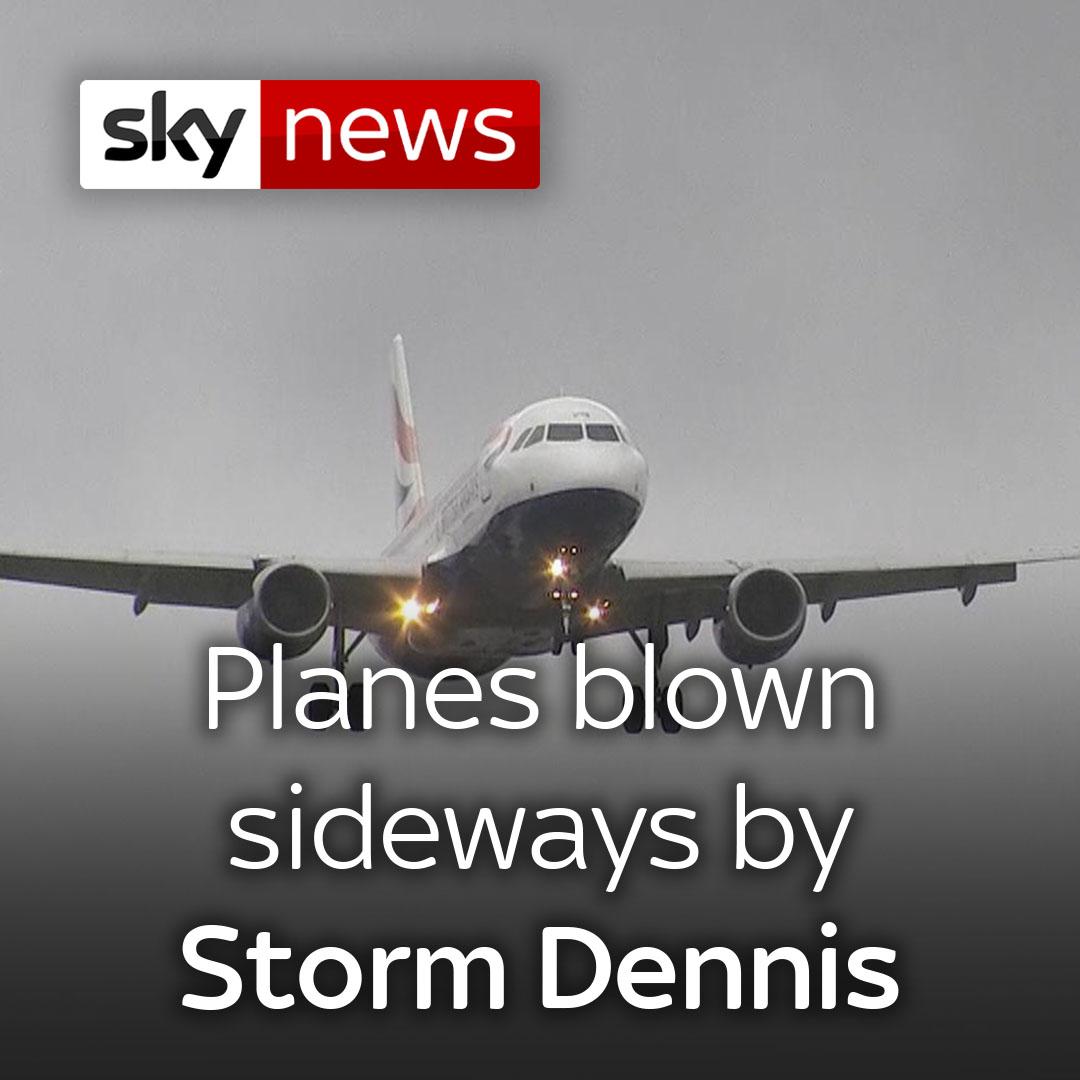 Storm Dennis, Massive Bomb Cyclone, Hits United Kingdom
