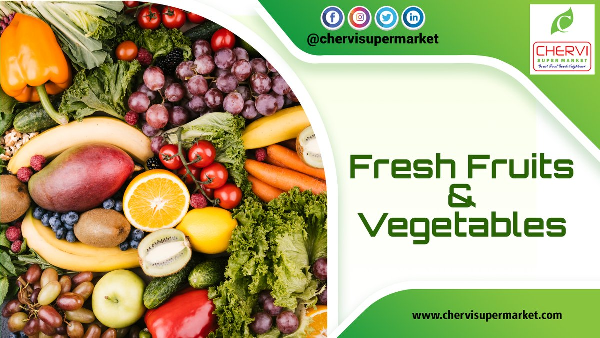 Fresh Fruits and Vegetables  Free Home Delivery available  Nizampet Plot No -386, Bandari Layout, Nizampet, Hyderabad-500090. Call- 7032404040 #supermarket #stores #dailyhomeneeds #groceries #fruits #freshvegetables #offers #discounts #chervisupermarketkphbpic.twitter.com/NAtnxyK6n1