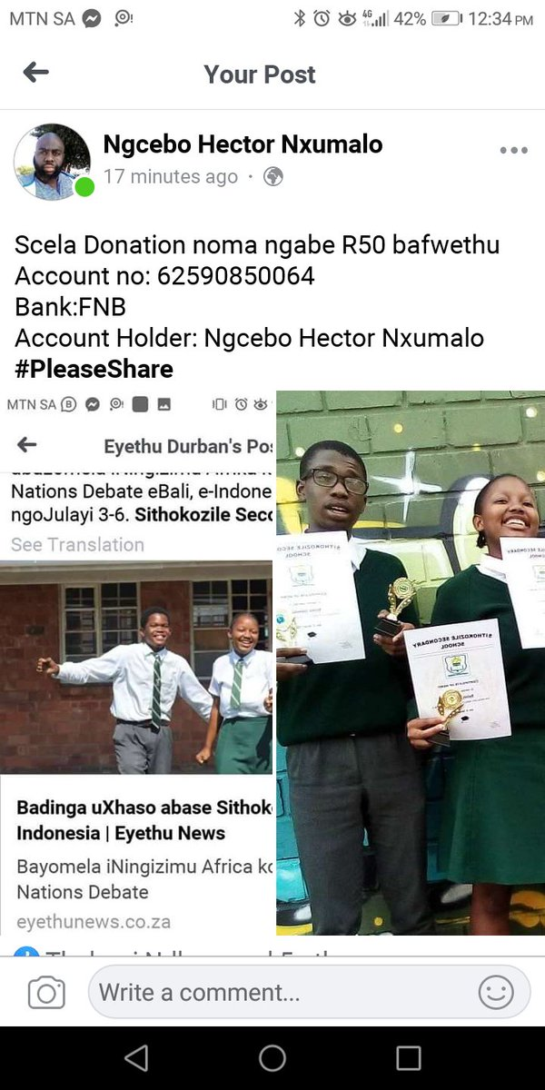 We've made it thus far please help us represent The Voice Of Young People at the #AWMUN  Plz SHARE/RT until @eThekwiniM sees it. @TheJusticeDept @DeptOfEducation @Plaid_Ramaphosa @ParliamentofRSA https://t.co/qHjS2oUmut