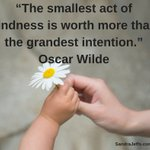 Image for the Tweet beginning: The smallest act of kindness
