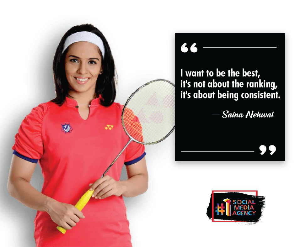 """""""I want to be the best, it's not about the ranking, it's about being consistent."""" - Saina Nehwal#sainanehwal #saina #badmintonplayer #indian #badminton #player #motivational #challenges #positivevibes #india #switchkeysocial #socialmediaagencyanand #switchkeysolutions #anand"""