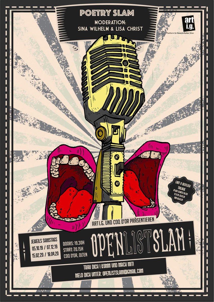 Heute gibts es Poetry Slam im @Coq_Olten!  #olten #poetry #slam #poetryslam #kultur #bar #club #coqdor #aargau #aarau #baden #solothurn #basel #bern #luzern #zürichpic.twitter.com/JbevL4eVh6