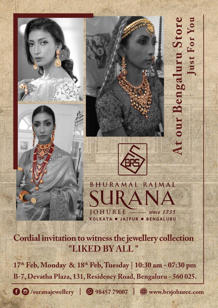 Witness the jewellery collection LIKED BY ALL.  #SuranaJewellery #BRSJohuree #Craftmanship #Heirloom #Polki #WeddingJewellery #TraditionalJewellery #HeritageJewellery #HandcraftedJadauJewellery #EthnicJewellery #VintageJewellery #JadauJewellery #Precious #Traditional #Bengalurupic.twitter.com/mCX1HCnHbh