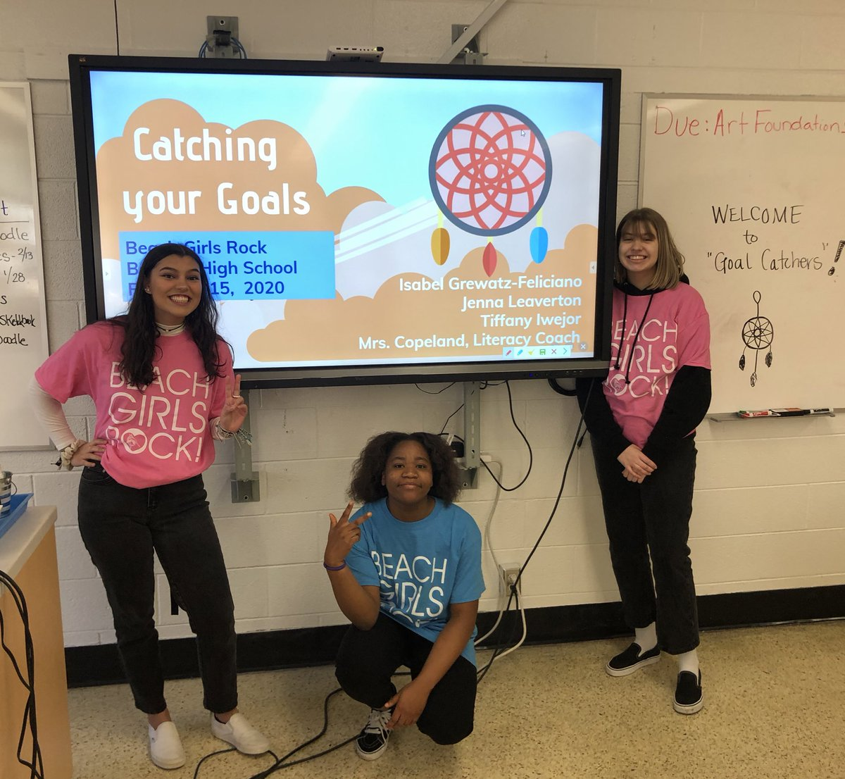 We are ready for #beachgirlsrock! @BHSMarlins #advocacyinaction #goalcatching