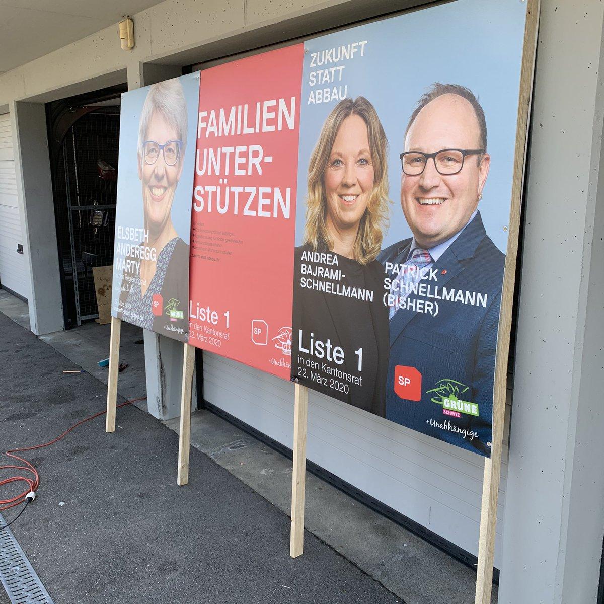 Wahlplakate montieren für den Wahlkampf #wahlkampf #wahlkampf2020 #kantonsrat #kantonschwyz #parlament #politik #spwangensz #wangensz @sp_schwyzpic.twitter.com/rLnchyDkbP