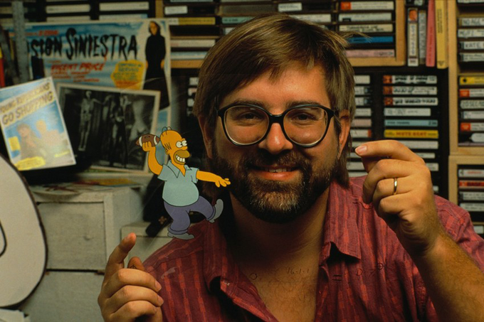"Happy Birthday to Matt Groening, the creator of ""The Simpsons\""! Here\s a photo of him and Homer Simpson in 1990."